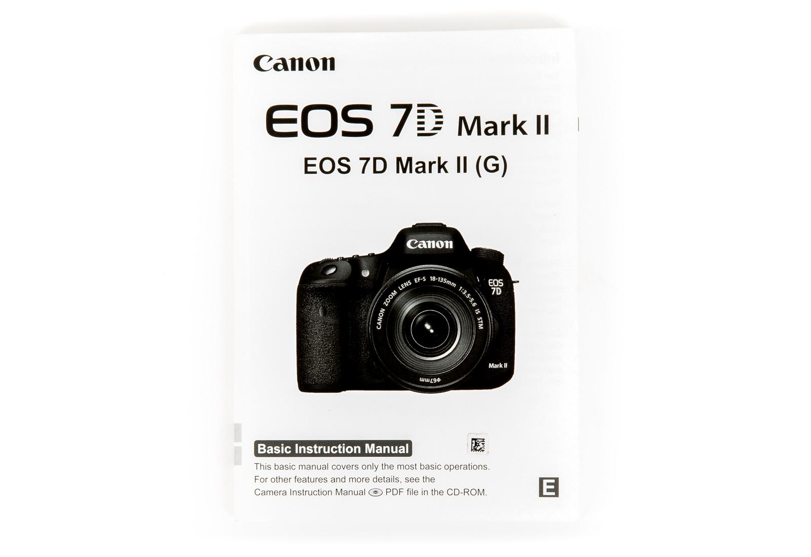 Manual - Canon 7D Mark II Cheat Sheet / Paper Manual